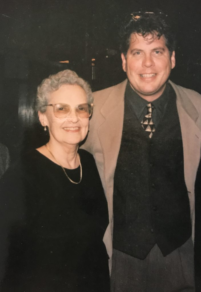 Alice Parker after an Albuquerque hymn festival, 1996